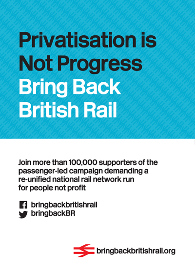 Bring Back British Rail advert (back cover Private Eye 1-13 May 2015)
