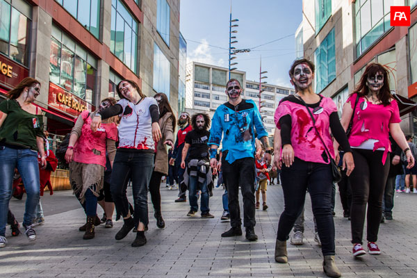 High Street Casualties: Ellie Harrison's Zombie Walk (photo: Rob Abdul)